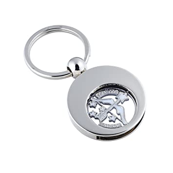 little-presents - Llavero con moneda para el carro de la compra, diseño de Sagitario: Amazon.es: Oficina y papelería
