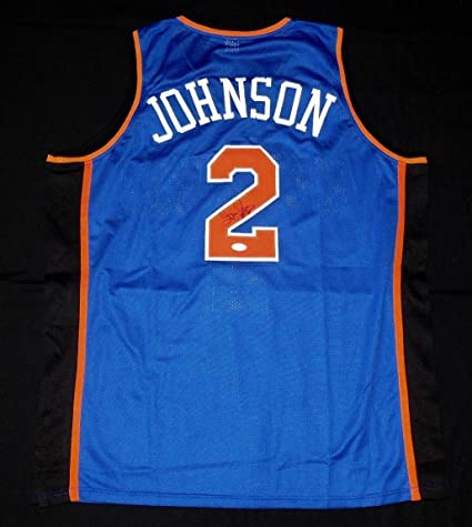 550ac301f Image Unavailable. Image not available for. Color  Larry Johnson (NBA) Autographed  Jersey ...