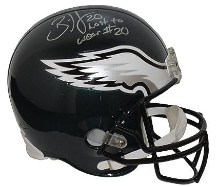 7dc556d9366 Brian Dawkins Autographed Helmet - Full Size Replica Last to Wear  20 - JSA  Certified