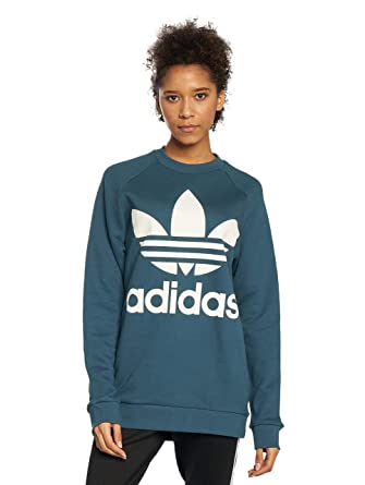 4676a6b77bc3c Image Unavailable. Image not available for. Color: adidas Originals Women's Trefoil  Oversize Sweatshirt Dark ...