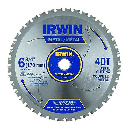 irwin metal cutting blade. irwin industrial tools 4935554 6-3/4-inch 40-tooth metal cutting circular saw blade for ferrous steel: amazon.ca: \u0026 home improvement