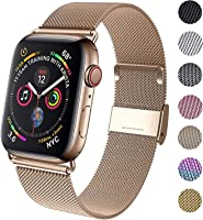 KOUUNN Compatible for Apple Watch Band 38mm 40mm 42mm 44mm, Wristband Loop Replacement Band for Iwatch Series 5,Series...