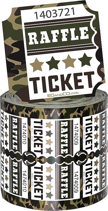 Amazon.com: Raffle Tickets   Premium Double Ticket Roll ...