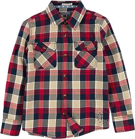 Tommy Hilfiger - Camisa de Manga Larga, Day Check, niño, Color: Multicolor, Talla: 8: Amazon.es: Ropa y accesorios