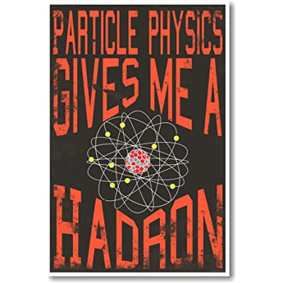Particle Physics Gives Me A Hadron - NEW Classroom Science Physics Poster: Toys & Games