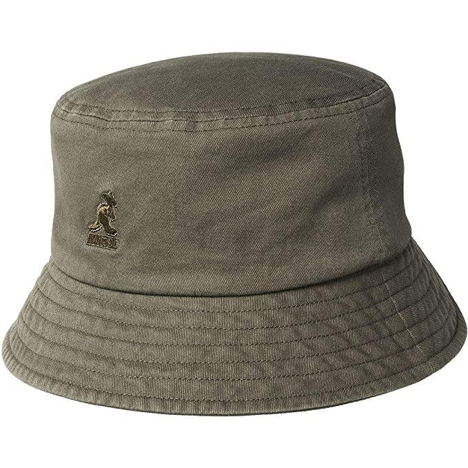 2523efdf90d37f Kangol Mens Washed Cotton Bucket Hat Bucket Hat: Amazon.ca: Clothing ...
