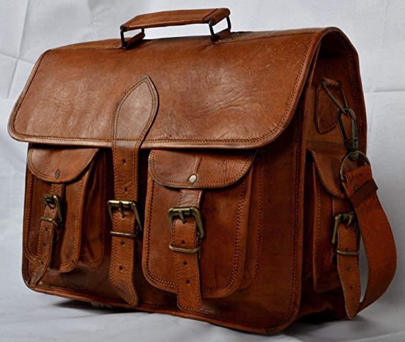 9300aea1ab4f 🎁 Handmade Vintage 100% Pure Leather Messenger Bag for Laptop Briefcase  Satchel Bag | leather ...