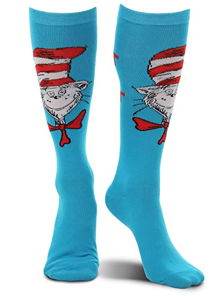 The Cat in The Hat Paws Knee High Costume Socks
