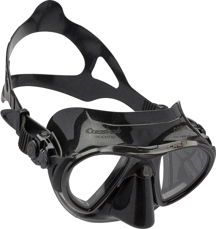 Black Black Cressi Low Volume Adult Mask Scuba, Freediving, Spearfishing   Nano Made in