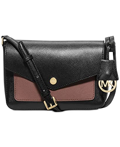 bfe1959a973383 MICHAEL Michael Kors Greenwich Small Flap Crossbody, Black/Dusty rose:  Handbags: Amazon.com