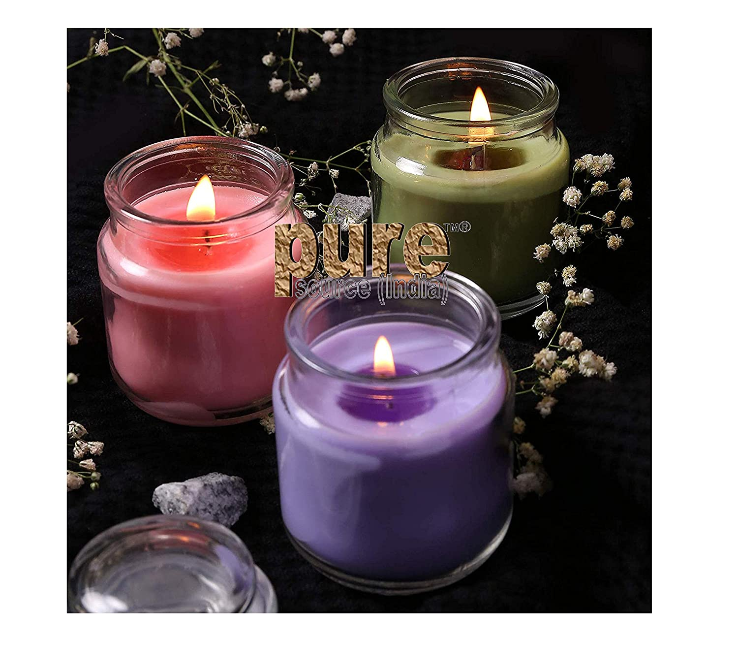 Glass Jar Fragrance Scented Candles