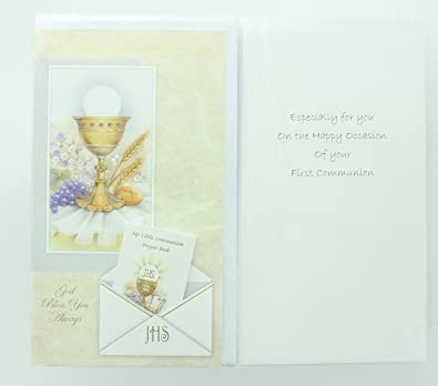 Amazon ra001 childrens first holy communion greeting card ra001 childrens first holy communion greeting card includes envelope and prayer book m4hsunfo