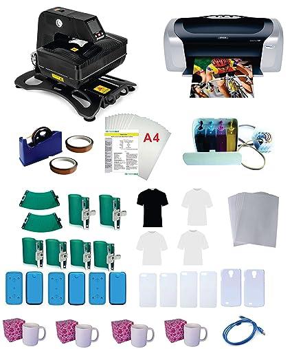 Kit de 6 moldes para teléfono C88 CISS de tinta para sublimación ...