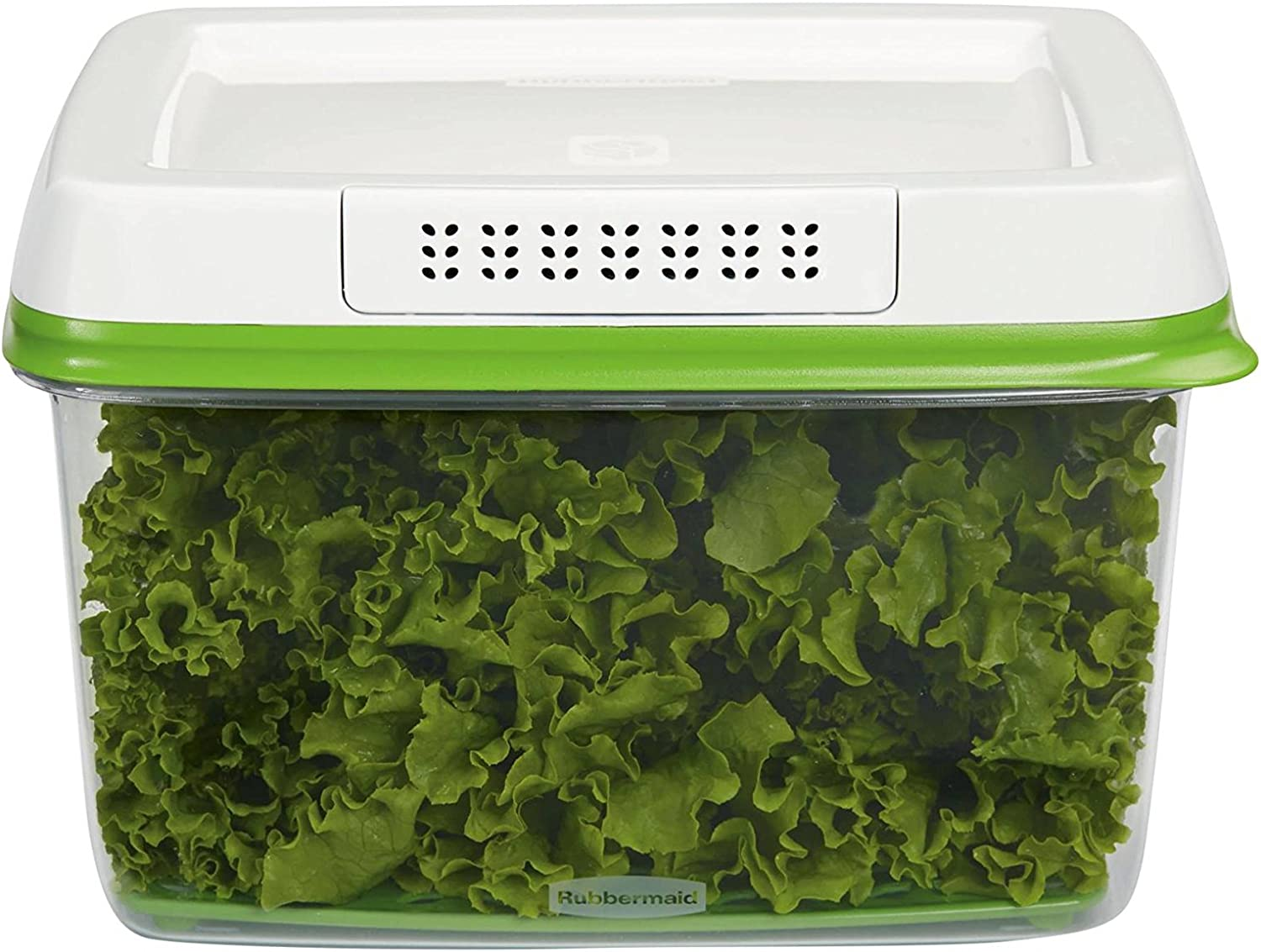 Rubbermaid FreshWorks Produce Saver Food Storage Container, Large, 17.3 Cup, Green 1953849
