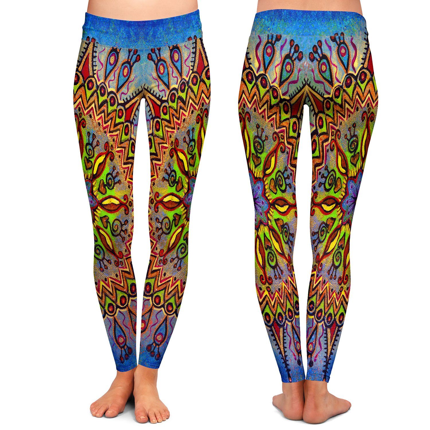 Mandala 1 Athletic Yoga Leggings from DiaNoche Designs by Ann Marie Cheung