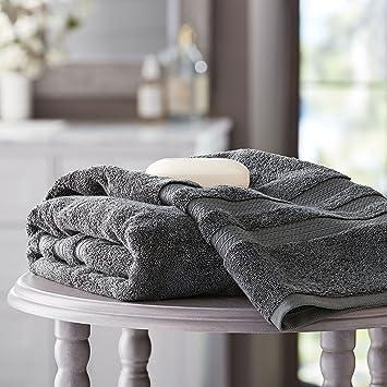 Members Mark Hotel Premier Collection 100% algodón toalla de baño, color gris: Amazon.es: Hogar