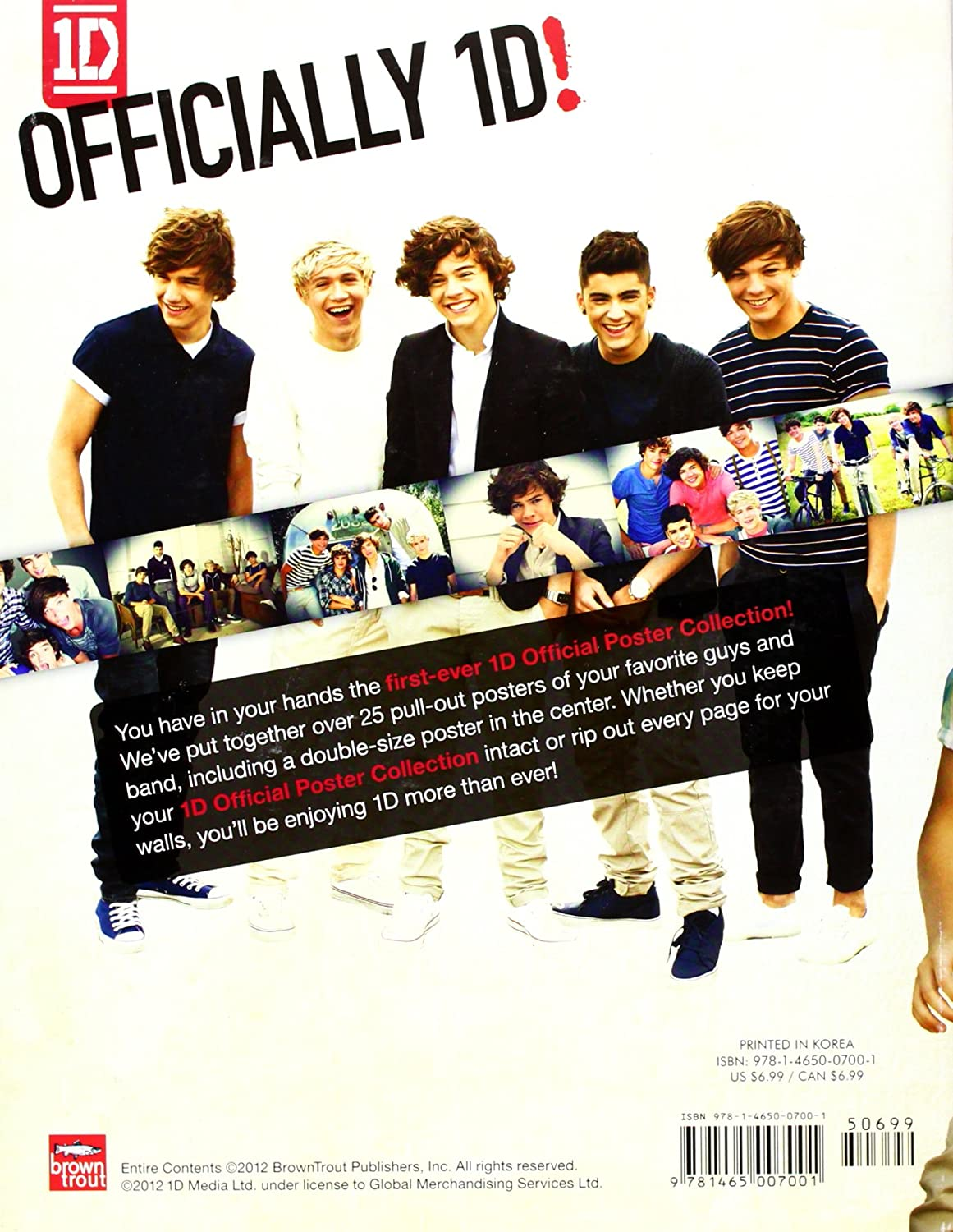 amazon com 1d official poster collection over 25 pull out posters