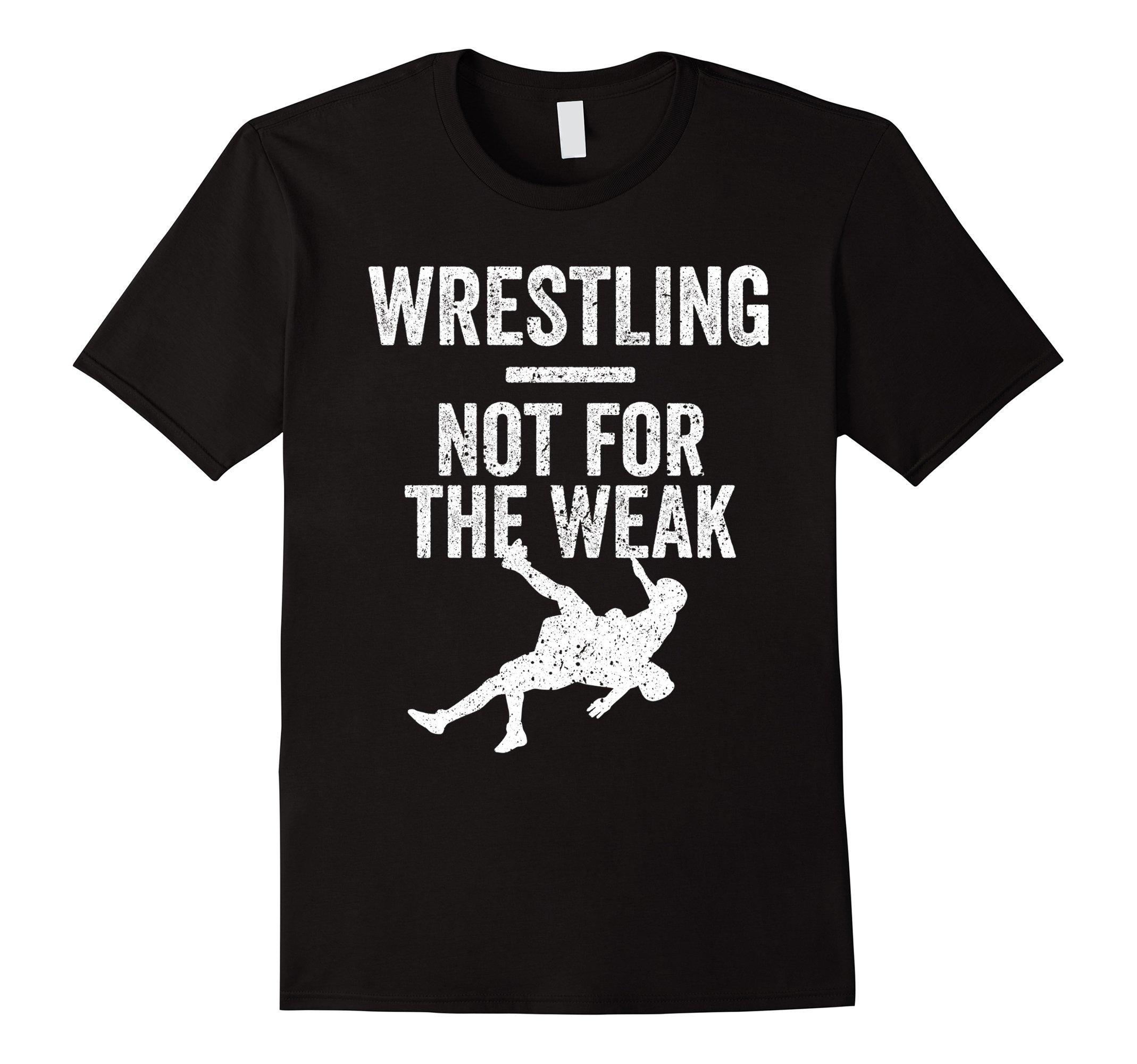 Mens Not For The Weak Wrestling Shirt for Wrestlers, Gift, White Medium Black