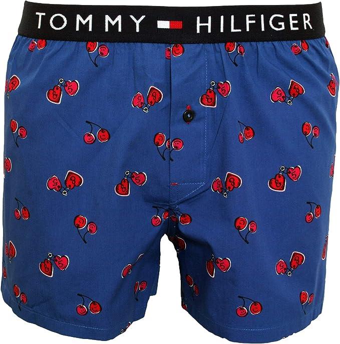 Tommy Hilfiger Tatuaje De Cereza Impresión Tejida Boxeador De Los Hombres Conjunto De Regalo Corto, Azul Verdadero Medio: Amazon.es: Ropa y accesorios