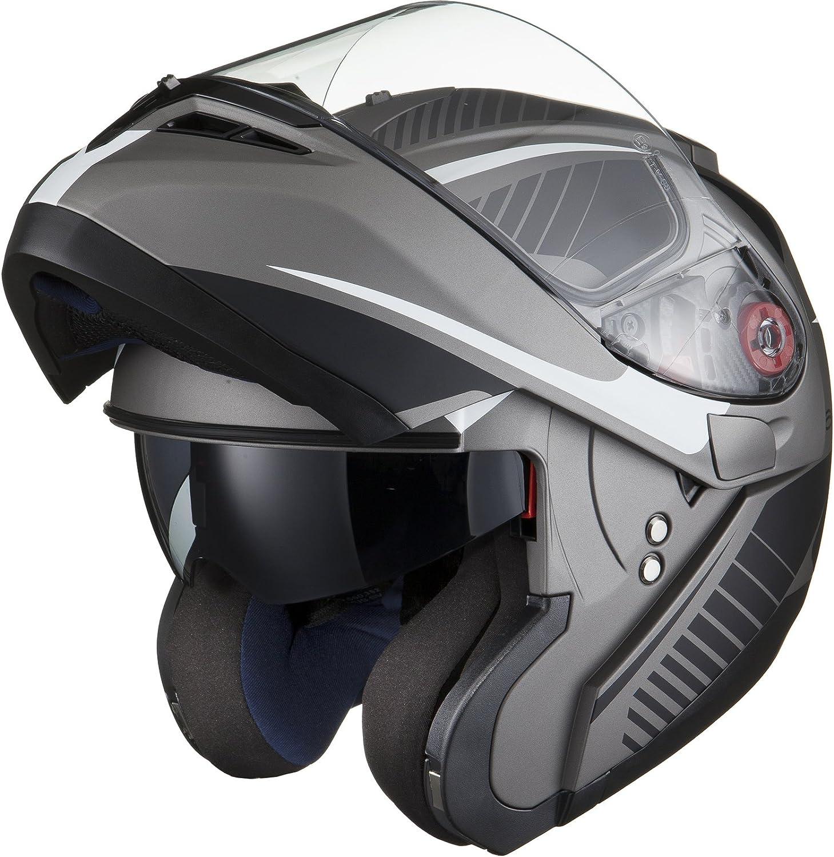 Black Noir Optimus SV Tour Max Vision Flip Avant pour Casque de Moto
