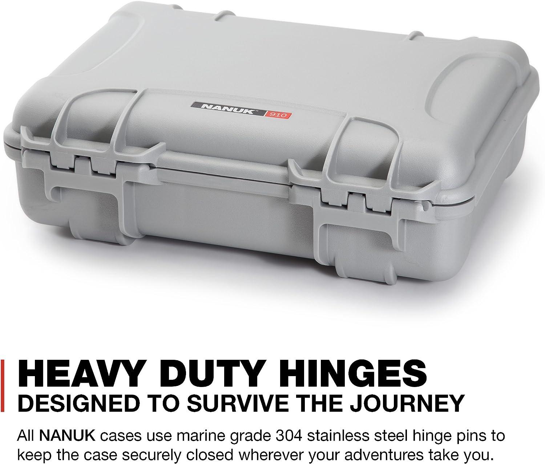 Nanuk 910 Waterproof Hard Case with Foam Insert Silver