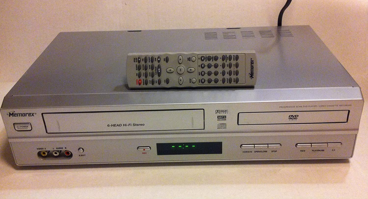 amazon com memorex 00934 refurbished dual deck dvd vcr player rh amazon com Memorex VHS Player Memorex TV