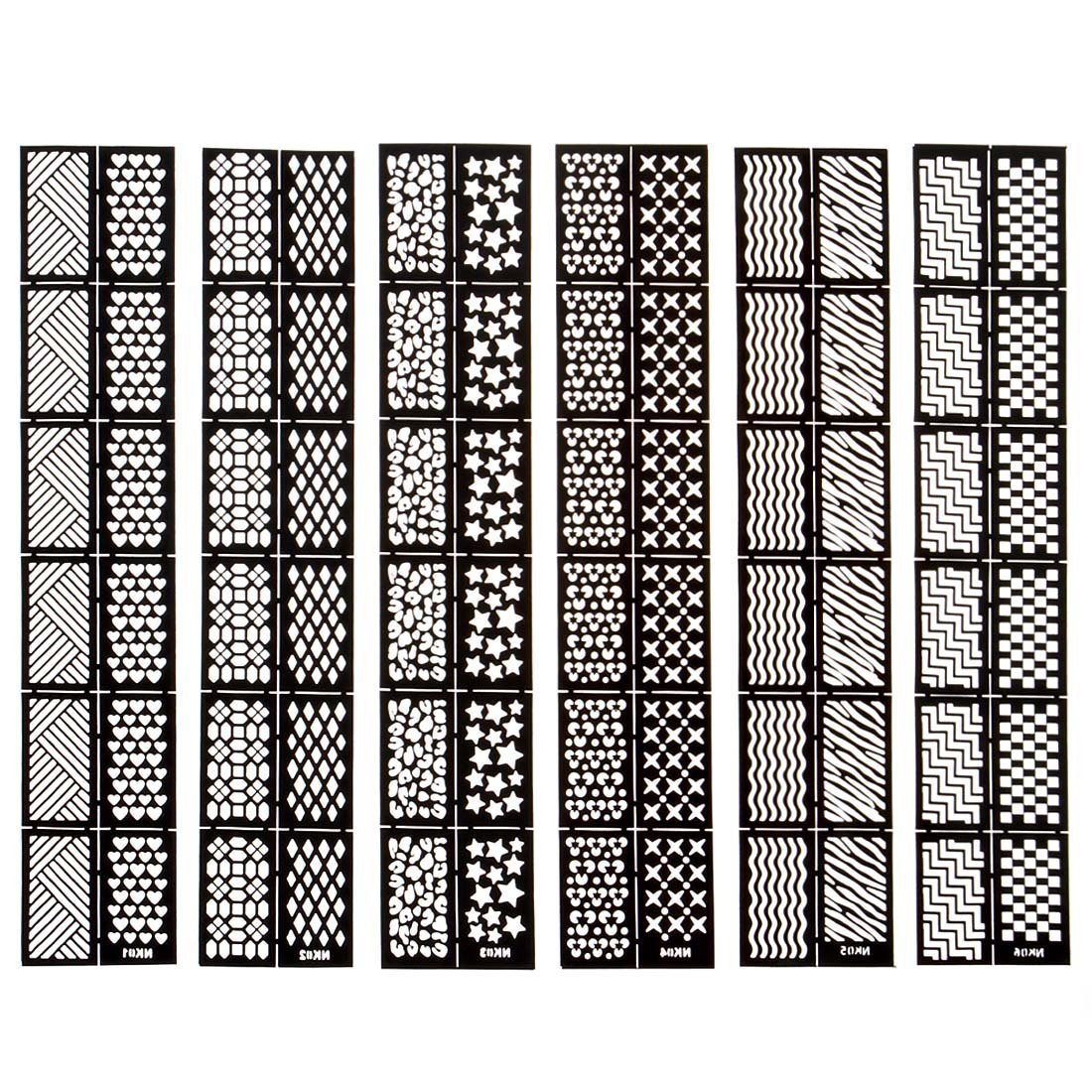 Amazon.com : EFT 12 Tips/Sheet Nail Vinyls Easy Use Nail Art ...