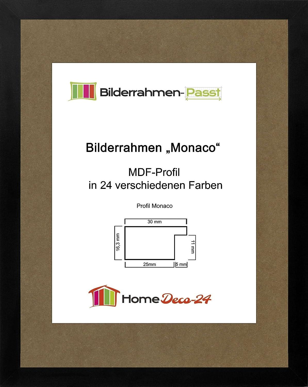 Monaco MDF Bilderrahmen ohne Rundungen 60 x 45 cm Größe wählbar 45 x ...