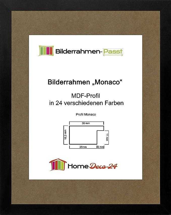 Amazon.de: Monaco MDF Bilderrahmen ohne Rundungen 60 x 45 cm Größe ...