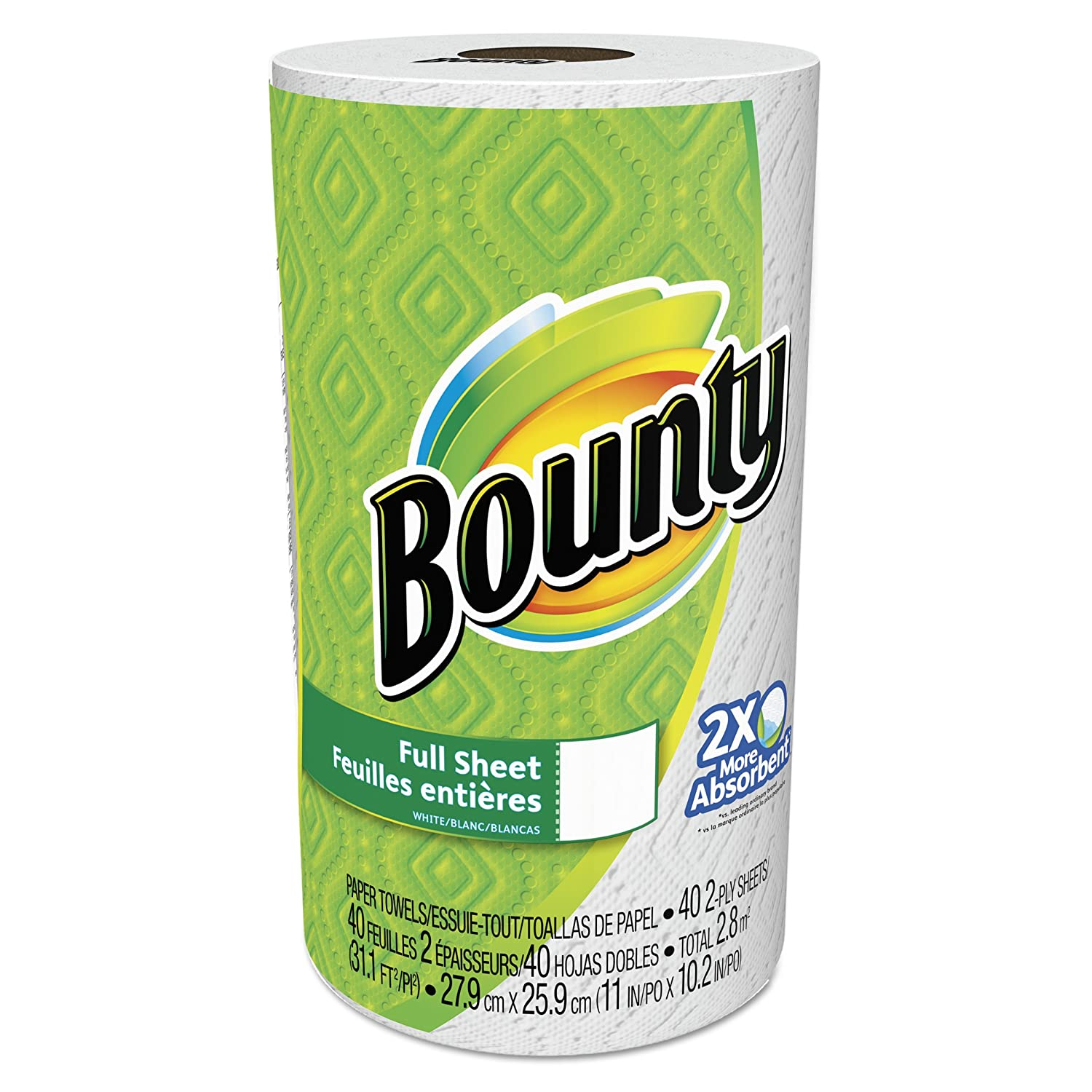 Amazon.com: Bounty Paper Towels, White, Regular Roll, 40 Sheets Per Roll (Case of 30): Health & Personal Care