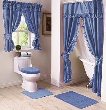 Amazon.de: Madison mad-swg-wc-bl Badezimmer Fenster Vorhang, Blau