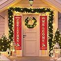 2-Pk Wowleo Christmas Door Banners
