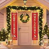 WOWLEO Christmas Door Banner Decorations Outdoor
