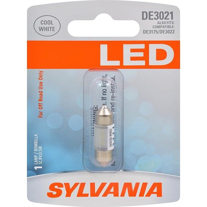 Amazon.com: SYLVANIA DE3021 31mm Festoon White LED Bulb, (Contains 1 Bulb): Automotive
