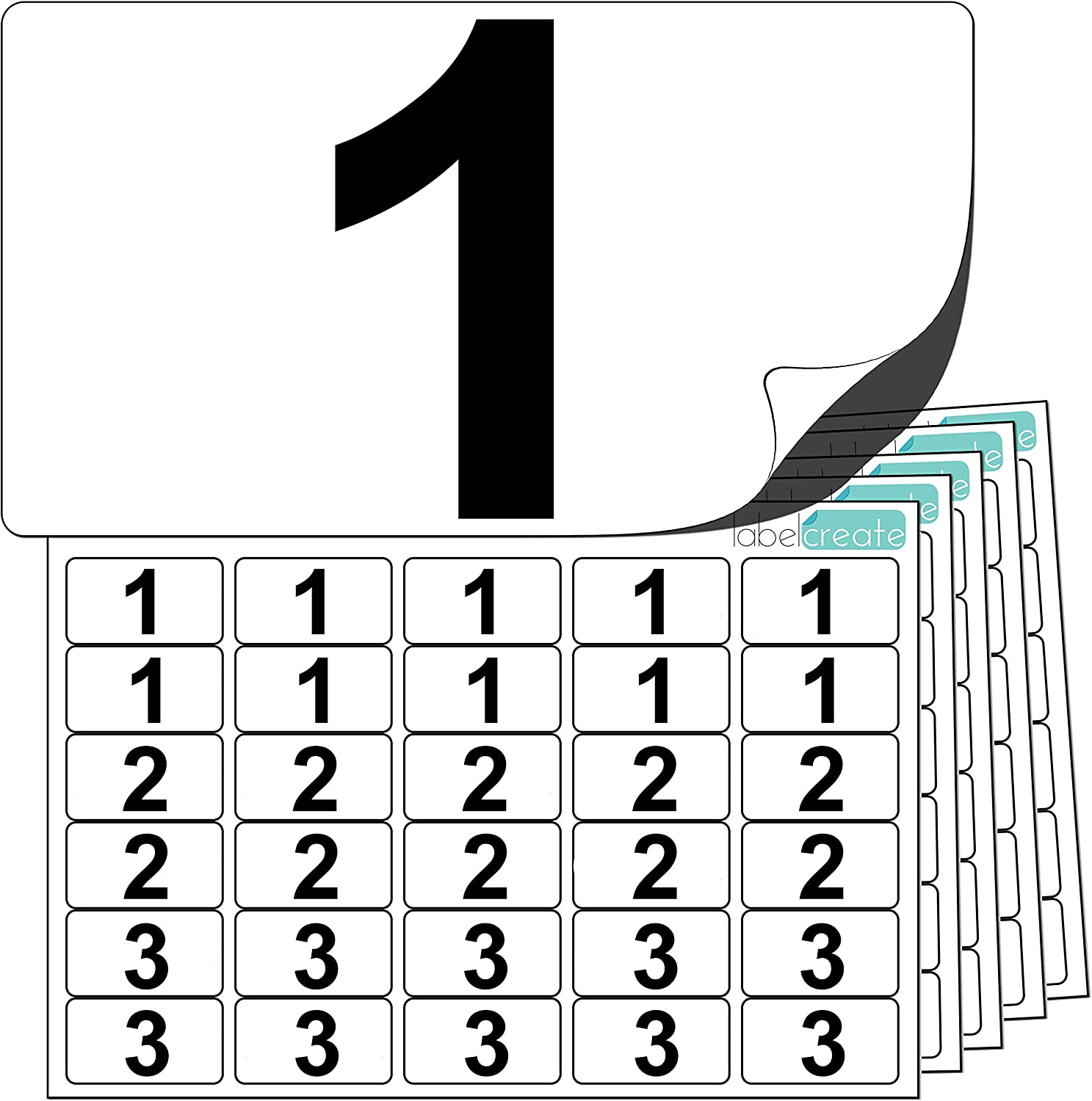 10 set STICKY NUMBERED LABELS 1 To 100 WHITE SELF ADHESIVE STICKERS BLACK NUMBER