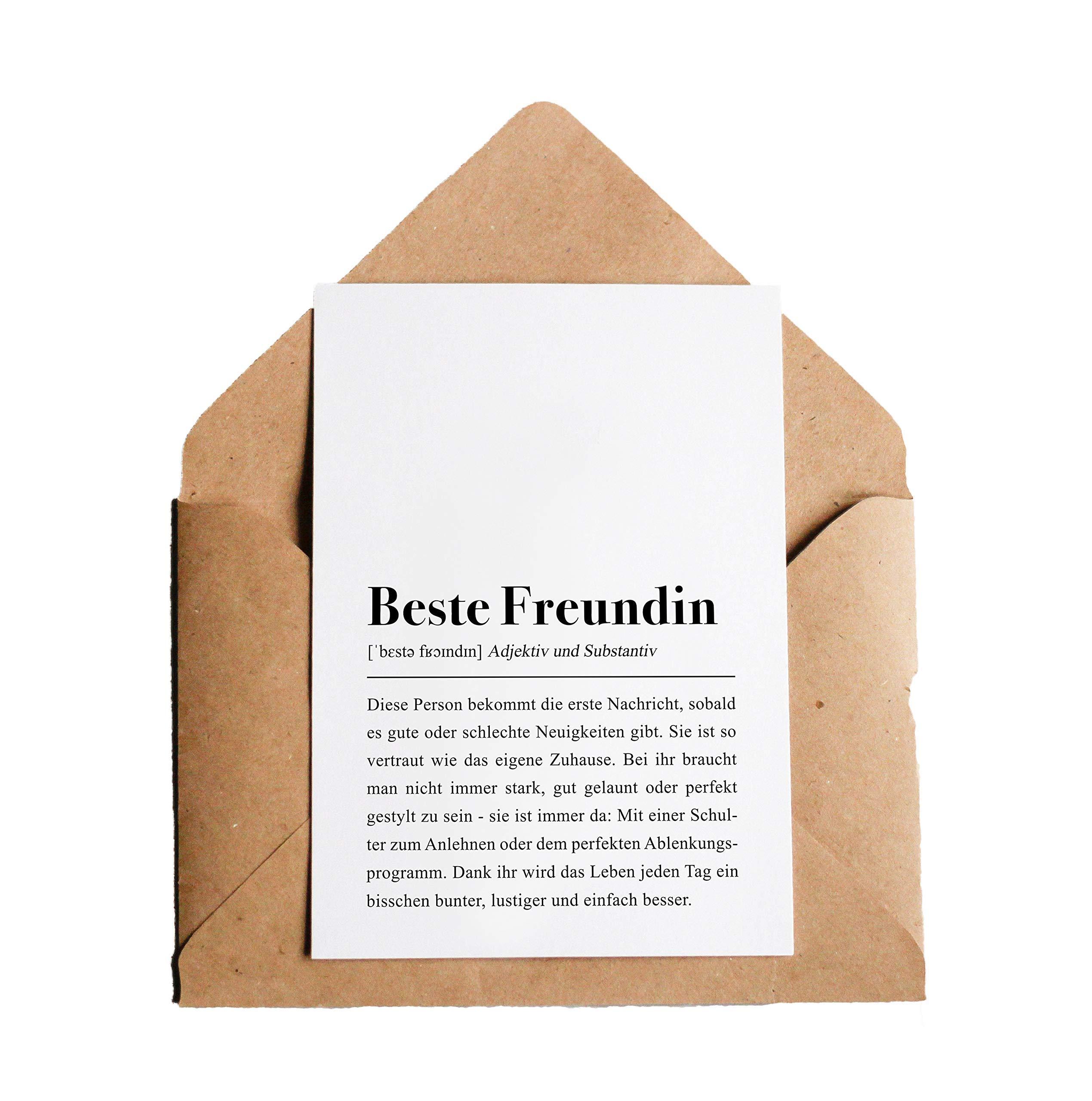 Beste Freundin Definition: Grußkarte mit Umschlag Bild