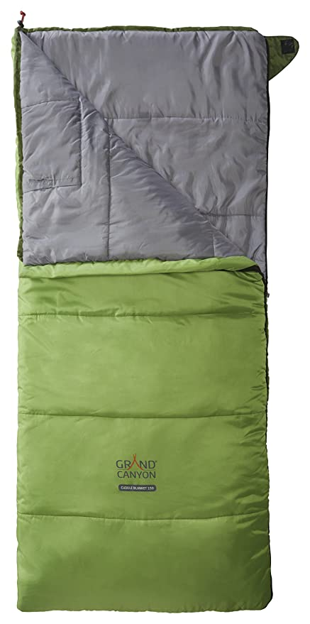 GRAND CANYON Cuddle Blanket – saco de dormir manta para niños, 3 estaciones, verde