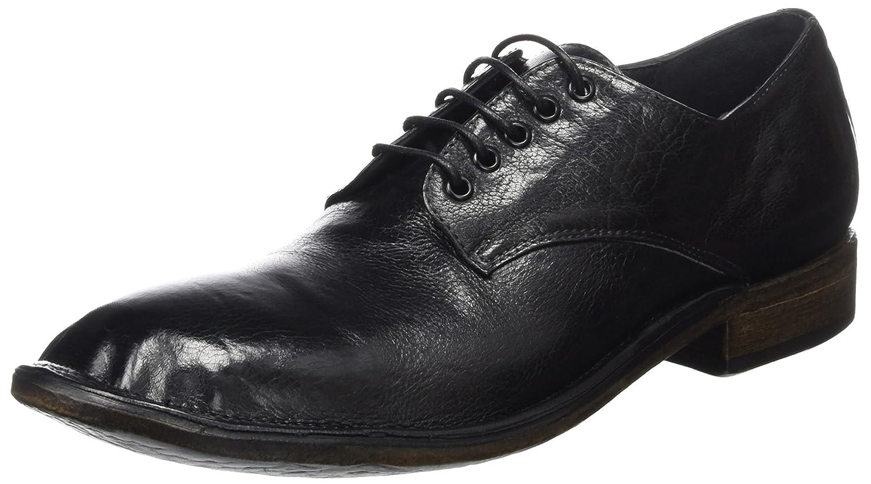 Preventi Plesenville, Zapatos de Cordones Derby para Mujer 41 EU|Negro (Nero Nero)