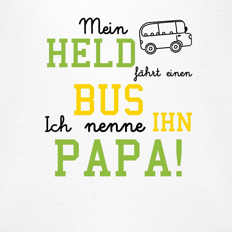 Baby Body Kurzarm f/ür Jungen und M/ädchen Mein Held f/ährt Bus Spr/üche Baby Shirtracer