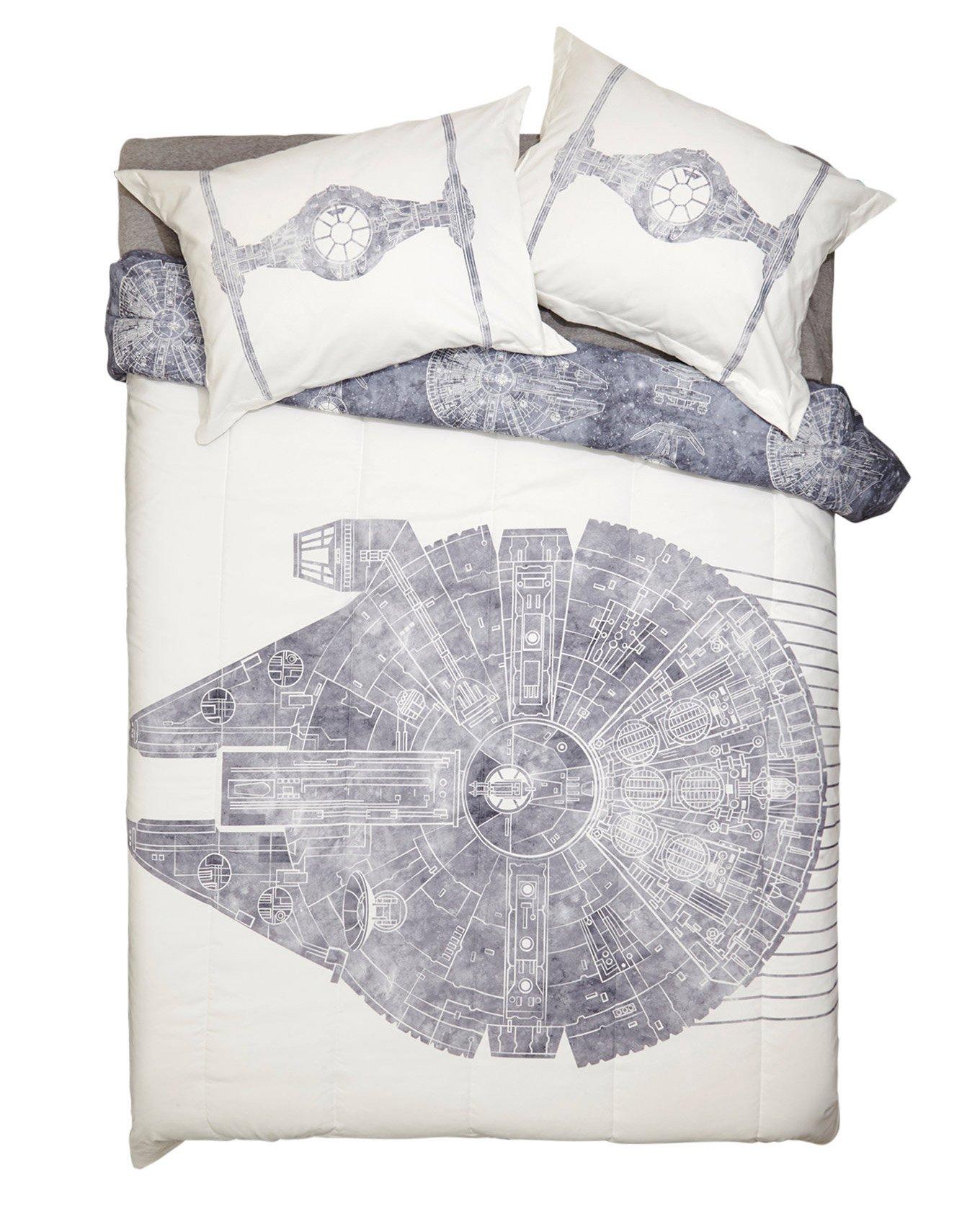 Star Wars Millennium Falcon 3pc Full/Queen Size Comforter & Pillow Sham Set