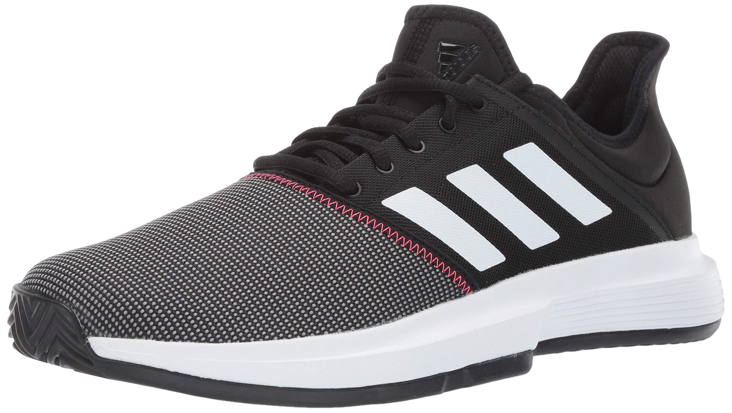 adidas Men's Gamecourt, Black/White/Shock red, 6.5 M US by adidas (Image #1)