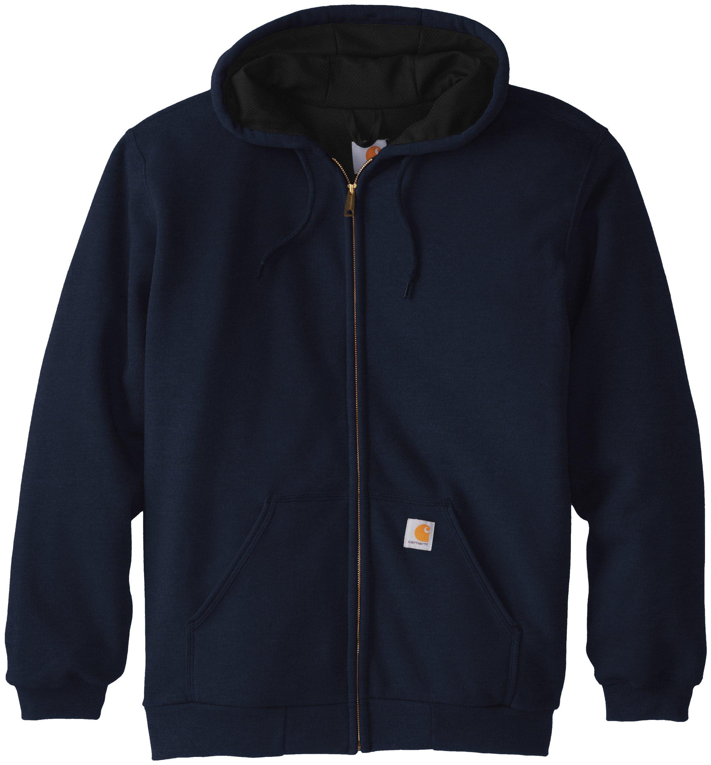 Carhartt Men's Rutland Thermal Lined Zip Front Sweatshirt Hoodie, New Navy, 4X-Large