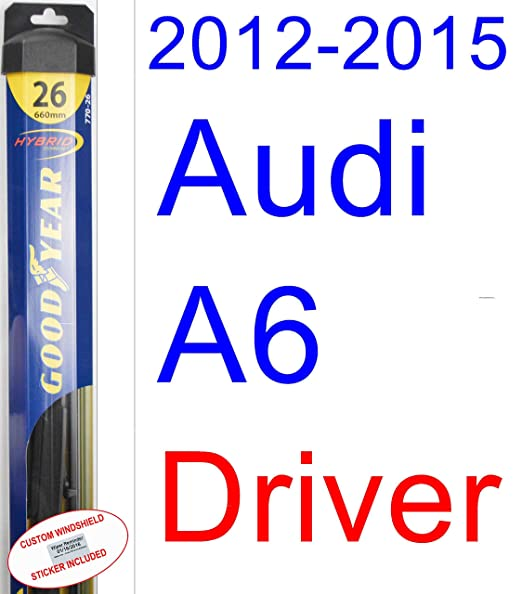 Amazon.com: 2012-2015 Audi A6 Replacement Wiper Blade Set/Kit (Set of 2 Blades) (Goodyear Wiper Blades-Hybrid) (2013,2014): Automotive