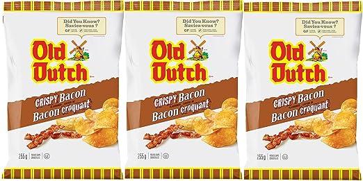 Old Dutch Crispy Bacon – Chips de patata con sabor 8.99 oz ...