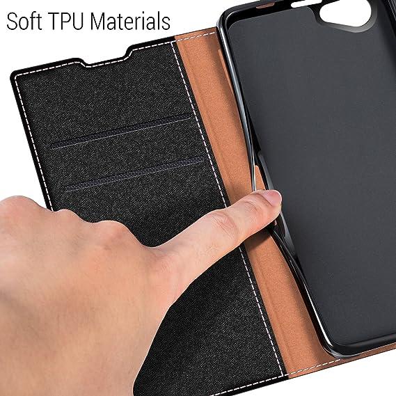 COODIO Funda Sony Xperia Z1 Compact, Funda Cuero Sony Xperia Z1 Compact, Funda Cartera Sony Xperia Z1 Compact Case con Magnético/Billetera/Soporte ...