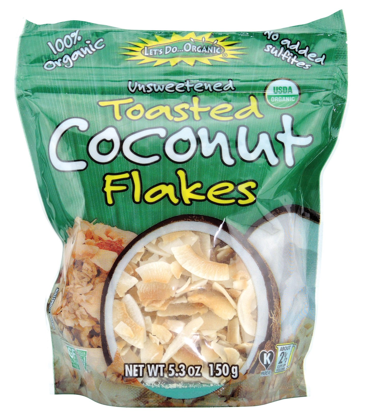 Let's Do Organic Organic Toasted Coconut Flakes, 5.3 Ounce (Pack of 6)