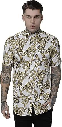 Camisa Siksilk Resort Venetian Navy L