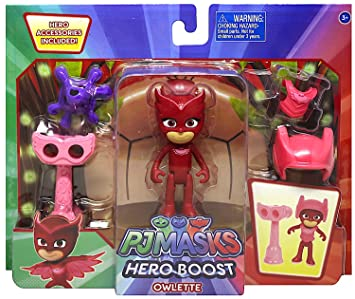 Pj Masks Hero Boost Owlette Action Figure Set 3""