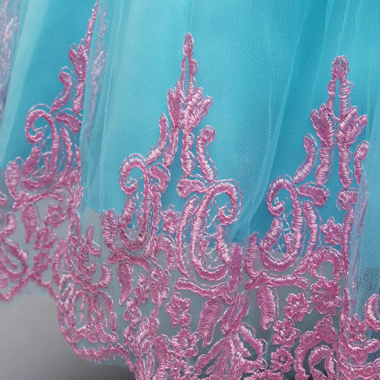 TTYAOVO B/éb/és Filles sans Manches brod/é Tulle Fleur Princesse Robe De Mariage De Tutu
