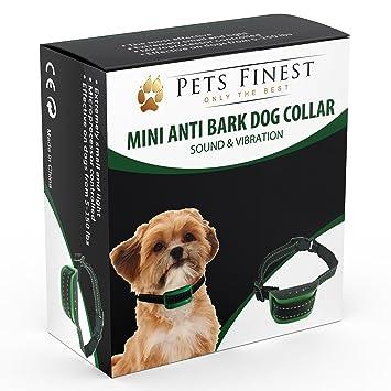 Collar Anti Ladridos de Pets Finest - Collar Anti Ladridos para Perros con Sonido y Vibración (Pequeña): Amazon.es: Productos para mascotas